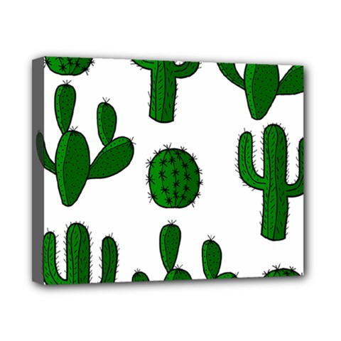 Cactuses pattern Canvas 10  x 8