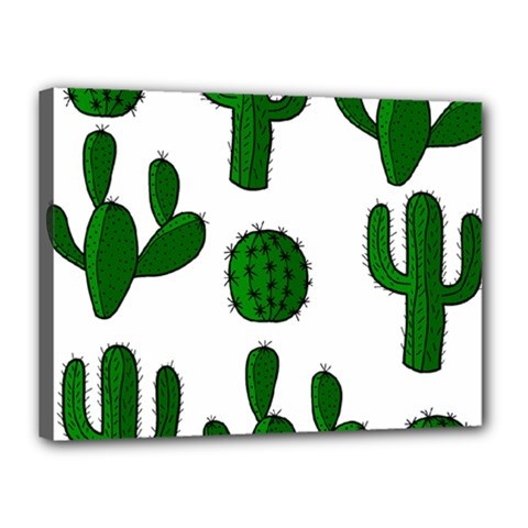 Cactuses pattern Canvas 16  x 12