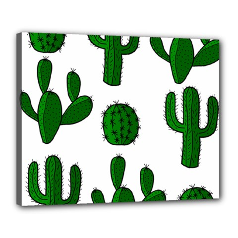 Cactuses pattern Canvas 20  x 16