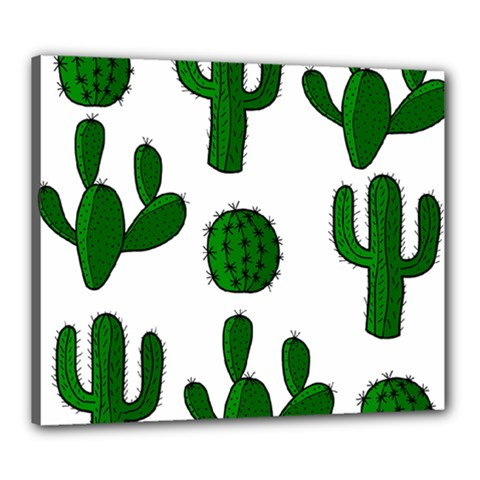 Cactuses pattern Canvas 24  x 20