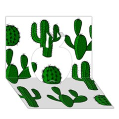 Cactuses pattern Apple 3D Greeting Card (7x5)