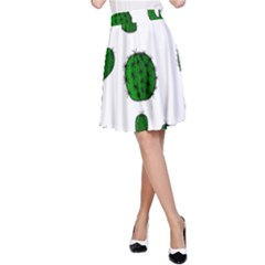 Cactuses pattern A-Line Skirt