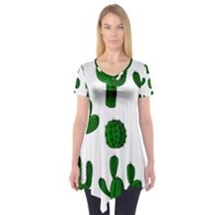 Cactuses pattern Short Sleeve Tunic