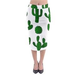 Cactuses pattern Midi Pencil Skirt