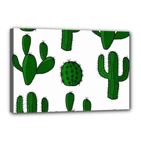 Cactuses pattern Canvas 18  x 12