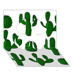 Cactuses pattern Clover 3D Greeting Card (7x5)