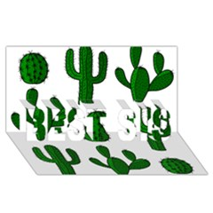 Cactuses pattern BEST SIS 3D Greeting Card (8x4)