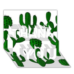 Cactuses pattern THANK YOU 3D Greeting Card (7x5)
