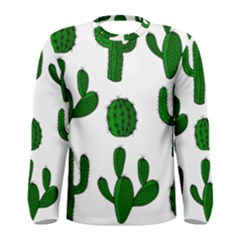 Cactuses pattern Men s Long Sleeve Tee