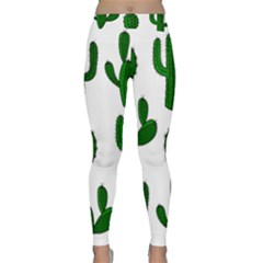 Cactuses pattern Yoga Leggings