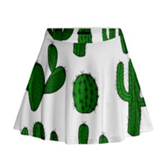 Cactuses pattern Mini Flare Skirt