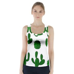 Cactuses Pattern Racer Back Sports Top