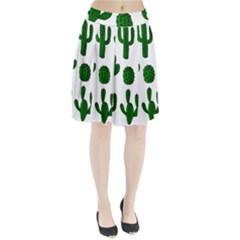 Cactuses pattern Pleated Skirt