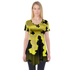 Khazar s Dream  Short Sleeve Tunic