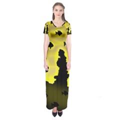 Khazar s Dream  Short Sleeve Maxi Dress