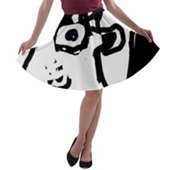 Old man A-line Skater Skirt