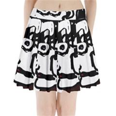 Old man Pleated Mini Skirt