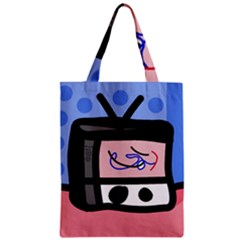 Old television Zipper Classic Tote Bag