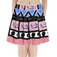 Old Television Pleated Mini Skirt