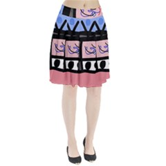 Old television Pleated Skirt