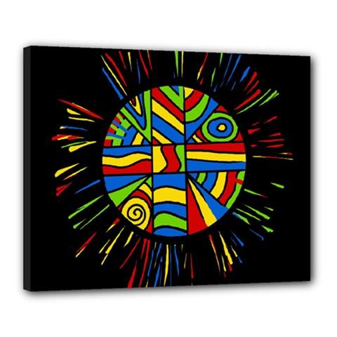 Colorful bang Canvas 20  x 16