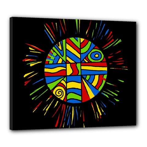 Colorful bang Canvas 24  x 20