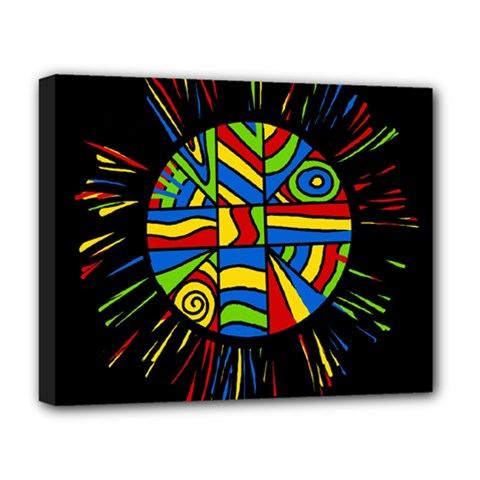 Colorful bang Deluxe Canvas 20  x 16