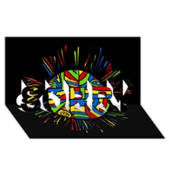Colorful bang SORRY 3D Greeting Card (8x4)