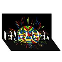 Colorful bang ENGAGED 3D Greeting Card (8x4)