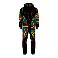 Colorful bang Hooded Jumpsuit (Kids)