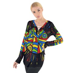 Colorful Bang Women s Tie Up Tee