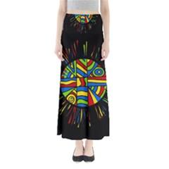Colorful bang Maxi Skirts