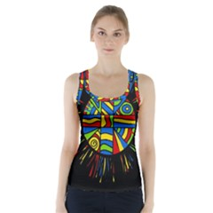 Colorful bang Racer Back Sports Top