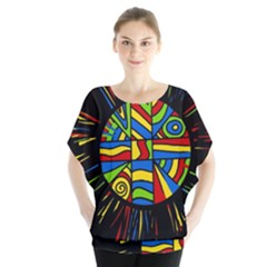 Colorful bang Blouse
