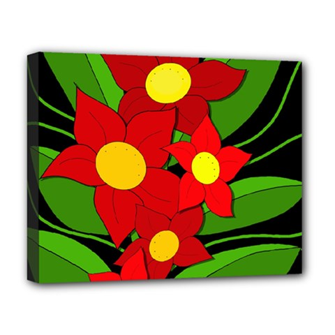 Red flowers Deluxe Canvas 20  x 16