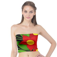 Red flowers Tube Top