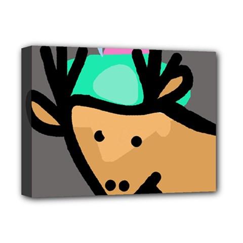 Deer Deluxe Canvas 16  x 12