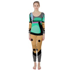 Deer Long Sleeve Catsuit