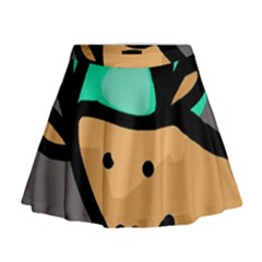 Deer Mini Flare Skirt