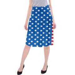 Usa Flag Midi Beach Skirt