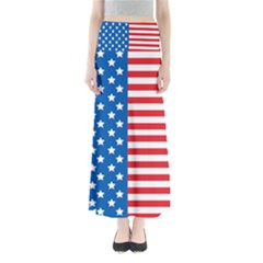 Usa Flag Maxi Skirts