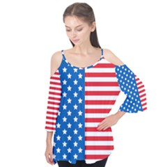 Usa Flag Flutter Tees