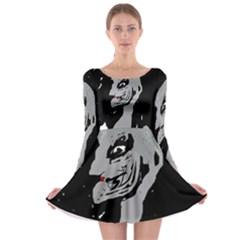 Horror Long Sleeve Skater Dress