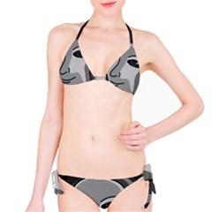 Lady - gray Bikini Set