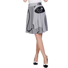 Lady - gray A-Line Skirt