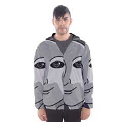 Lady - gray Hooded Wind Breaker (Men)