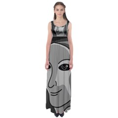 Lady - gray Empire Waist Maxi Dress
