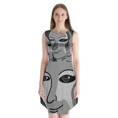 Lady - gray Sleeveless Chiffon Dress