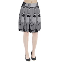 Lady - gray Pleated Skirt