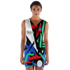 Find me Wrap Front Bodycon Dress